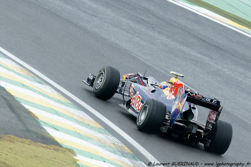 Mark Webber - Grand Prix do Brasil de Formula 1 em Interlagos - novembro de 2010, por Laurent GUERINAUD